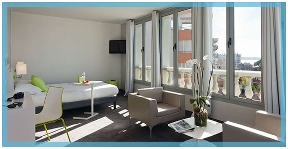 Sea view suite at the hotel ibis Styles Juan les Pins
