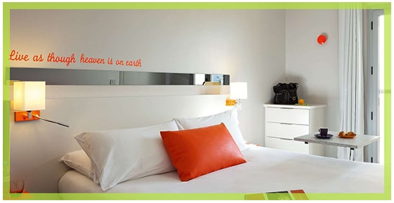 The rooms at the hotel ibis Styles Juan les Pins